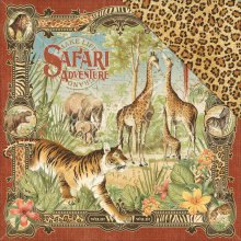 Лист бумаги Graphic 45 - Safari Adventure - Safari Adventure