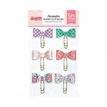 Декоративные клипсы Echo Park - Once Upon A Time Princess Decorative Paper Clip Bows