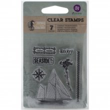 Акриловый штамп - Prima Marketing - Seashore Clear Stamps - Sailboat