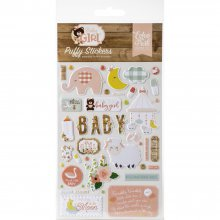 Наклейки Паф -  Echo Park - Baby Girl - Puffy Stickers