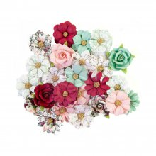 Набор цветов Prima Marketing - Mulberry Paper Flowers - Larimar/Pretty Mosaic