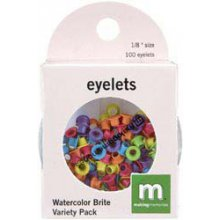 Люверсы Making Memories '1/8 Circle Eyelets Variety Pack, Watercolor Brite'