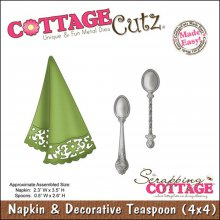 Нож CottageCutz Die - Napkin & Decorative Teaspoons Made Easy 10,2х10,2см