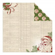 Двусторонний лист бумаги My Minds Eye - Vintage Christmas Collection - Dictionary