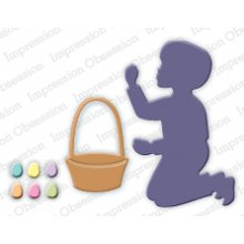Нож IoStamps - Boy with Easter Basket - DIE261-G