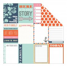 Лист скрапбумаги Teresa Collins - Family Stories Collection - Notecards, 30х30см