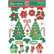 Набор высечек Ruby Rock-It - 25 Days of Christmas Collection - Assortment Of Printed, Kraft & Glitter