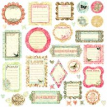 Высечки Prima - Raspberry Journaling Chipboards - 536718