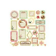 Высечки Prima - Flights of Fancy Journaling Chipboards - 536725