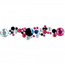 Набор украшений MARK RICHARDS-Crystal Stickers: Round Clear/Hot Pink/Black