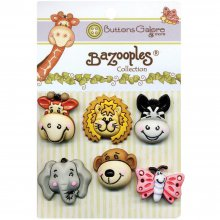 Пуговицы Buttons Galore - BaZooples Buttons - Gertrude & Friends