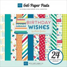 Набор бумаги Echo Park Paper Double-Sided Paper Pad 15X15см, Birthday Wishes Boy