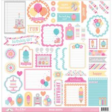 Лист наклеек DOODLEBUG - Sugar Shoppe, 30 х 30 см