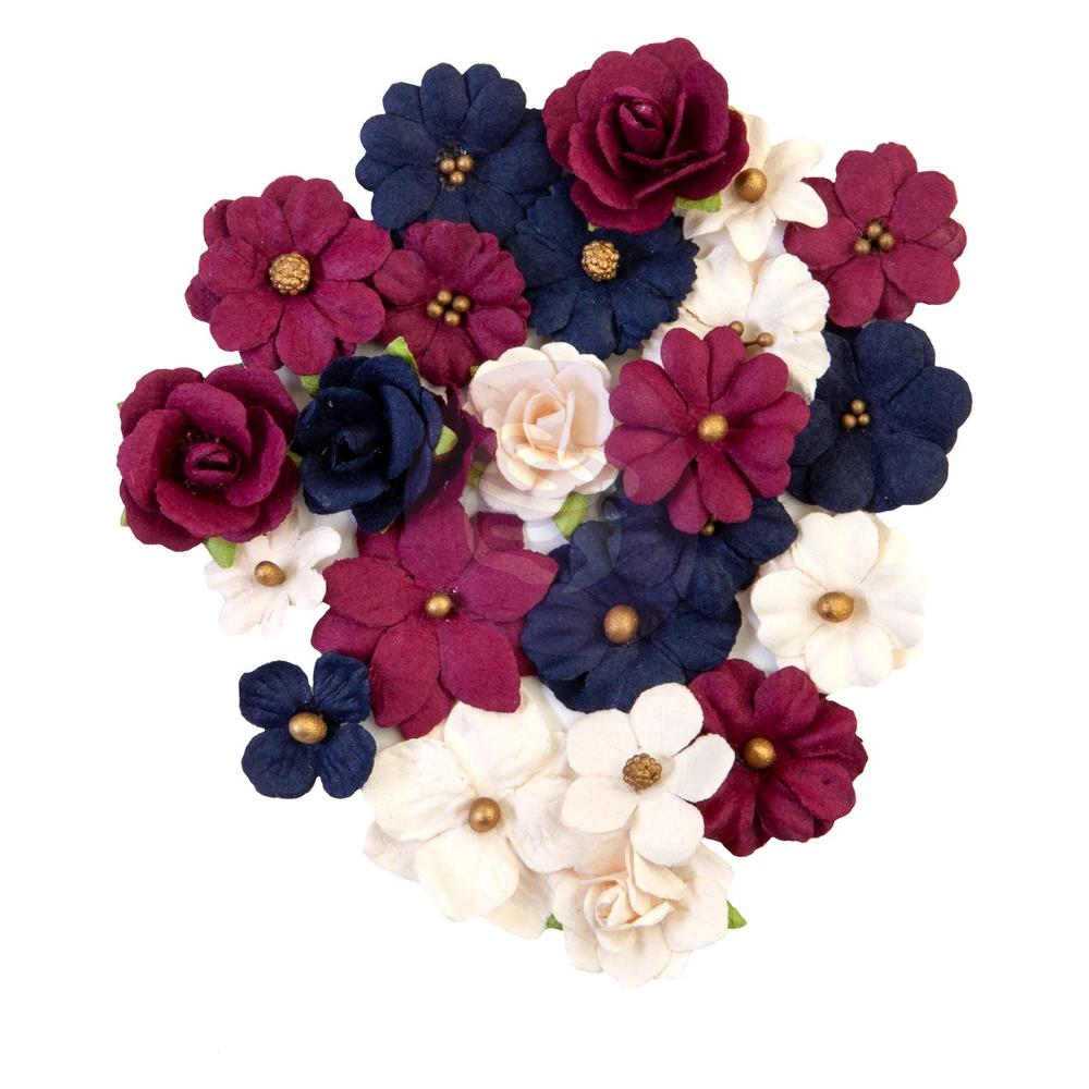 Набор цветов Prima Marketing - Mulberry Paper Flowers - Gilded Beauties/Darcelle