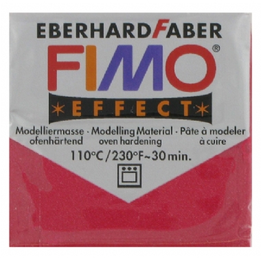 Полимерная глина Fimo Effect, Metallic Ruby Red - 56г - 28