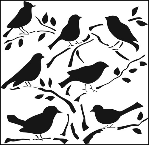 Маска The Crafters Workshop - 12x12'' Template - Birds