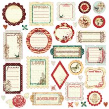 Высечки Prima - Pastiche Journaling Chipboards  - 536695